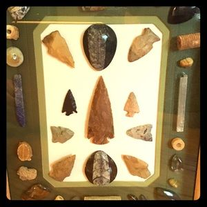 Arrowheads and fossils